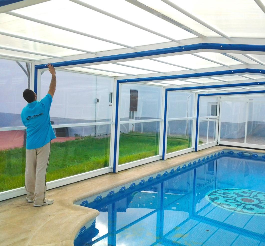Cubiertas altas para piscinas for Cubiertas para piscinas