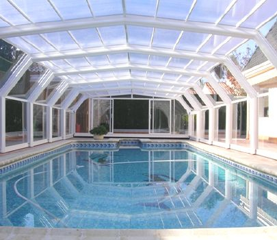 Cubierta de piscina precio cubierta piscina baja for Piscina cubierta galapagar